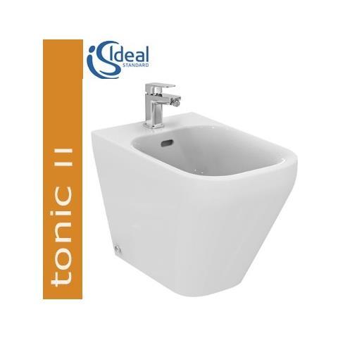 Image of Bidet Filo Parete Con Copripiletta Ceramica Ideal Standard Tonic Ii K523801