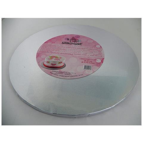 FIMEL Sottotorta Rotondo Spessore 1 Cm Argentato (diametro 30cm)