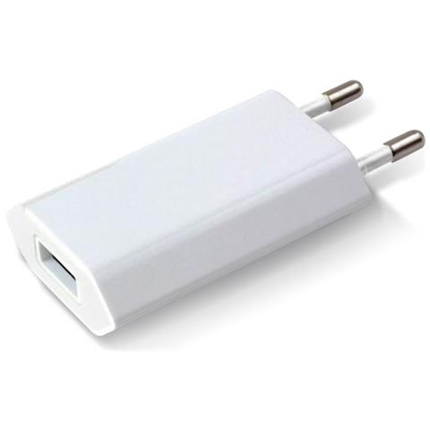 TECHLY IPW-USB-ECWW - Caricatore USB 1A Compatto Spina Europea Bianco