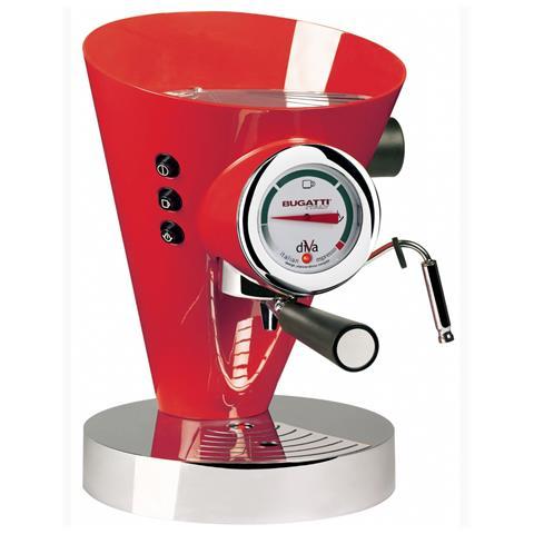 Macchina Caffé Espresso Manuale Diva Capacità Serbatoio 0,8 Litri Potenza 950 Watt Colore Rosso