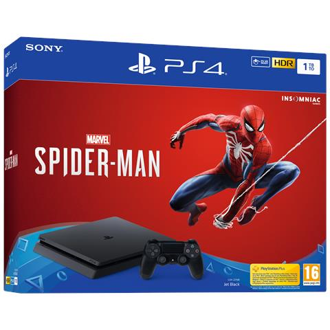 Image of Console Playstation 4 PS4 1 TB Chassis F Slim + Marvel's Spider-Man