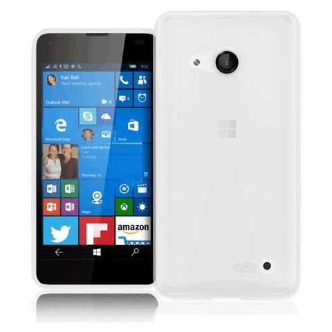 FONEX Inv Cover Ultra Sottile 0,2 mm in Morbido TPU per Microsoft Lumia 550 Colore Trasparente