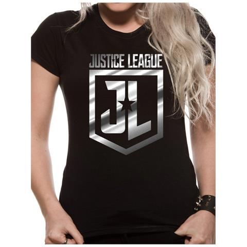 CID Justice League Movie - Foil Logo (T-Shirt Unisex Tg. L)