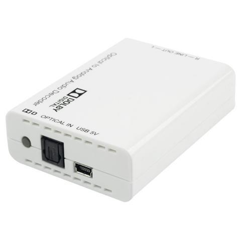 LINDY Convertitore Audio Digitale / Analogico con Dolby Digital Decoder Colore Bianco