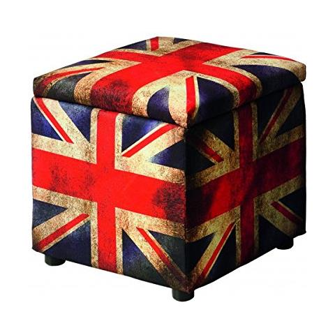 Vintagehome Cubo England In Tessuto 38x38x38