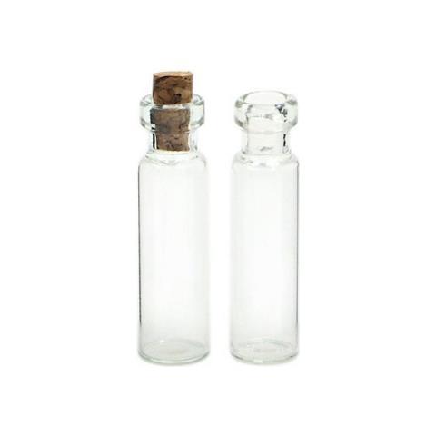 500 Boccette In Vetro Con Tappo Di Sughero 11 X 22 Mm Boccetta Liquidi Kawaii