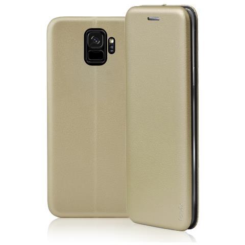 FONEX Profile Book Custodia a Libro per Samsung Galaxy S9 Colore Oro