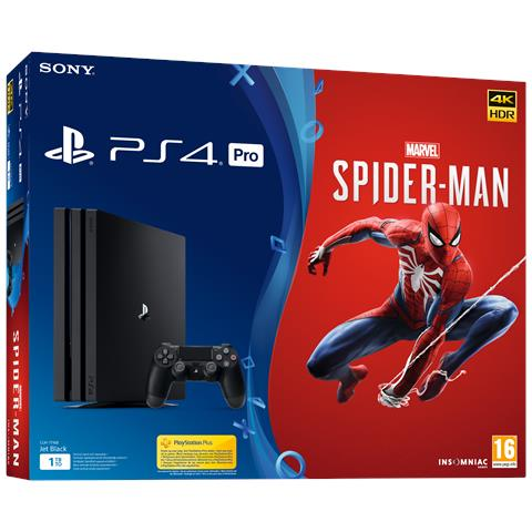 Image of Console Playstation 4 PRO 1 TB + Marvel's Spider-Man