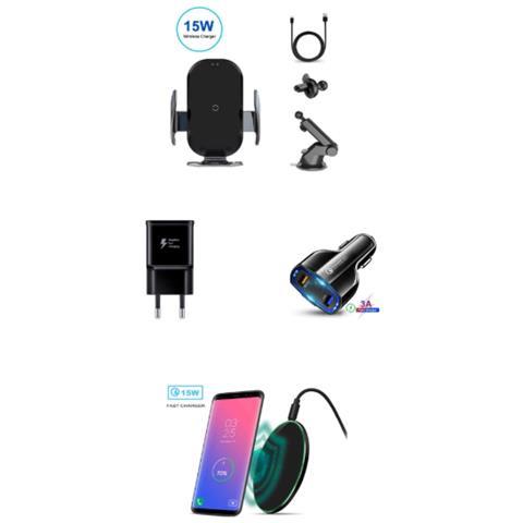 Set Di 4 Pezzi: Caricabatteria Per Auto, E-intelligente X7, Eleganza, Smart Sensor, Veloce...
