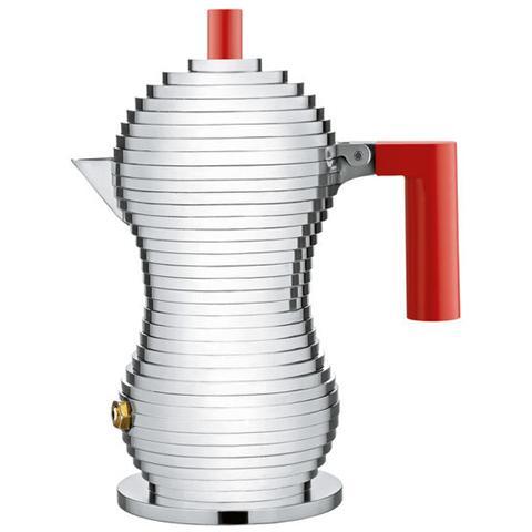 Caffettiera espresso pulcina rosso 1 tazza alluminio