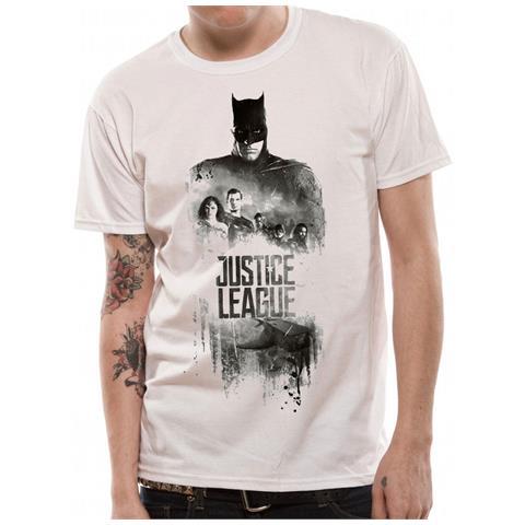 CID Justice League Movie - Batman Silhouette (T-Shirt Unisex Tg. M)