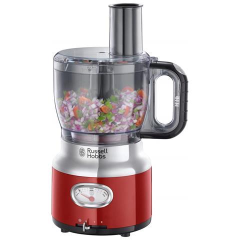 Robot da Cucina 25180-56 Retrò Capacità 2,3 Litri Bicchiere Frullatore da 1,5 Litri Potenza 850 Watt Colore Rosso