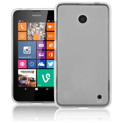 FONEX Pixel Cover Anti Urto 0,4 mm di Spessore in Morbido TPU con Retro Satinato per Microsoft Lumia 630/635 (Solo per Cell. Nero e Bianco) Colore Trasparente