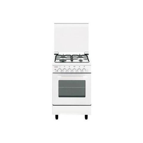 Cucina a Gas AE55AX3 4 Fuochi Gas Forno a Gas Statico Dimensioni 50x50 Colore Bianco