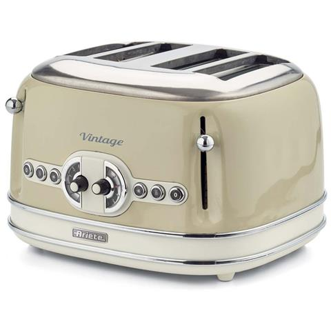 Image of Tostapane Vintage a 4 Fette Potenza 1600 W Colore Beige