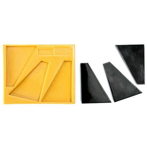 090704 - Sugarflex Gold 090704 Decorazioni Triangolo Rettangolo 04 115 X 34 X 9