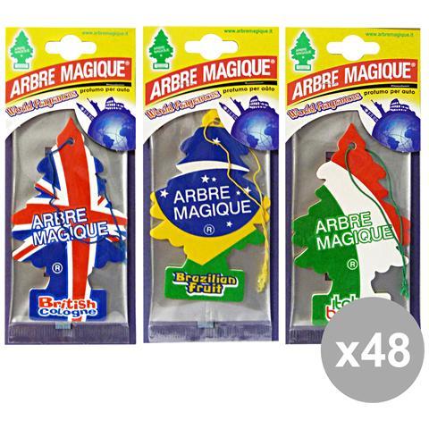 Arbre Magique Set 48 Deodorante Bandiere Cassa Mista Accessori Auto E Moto