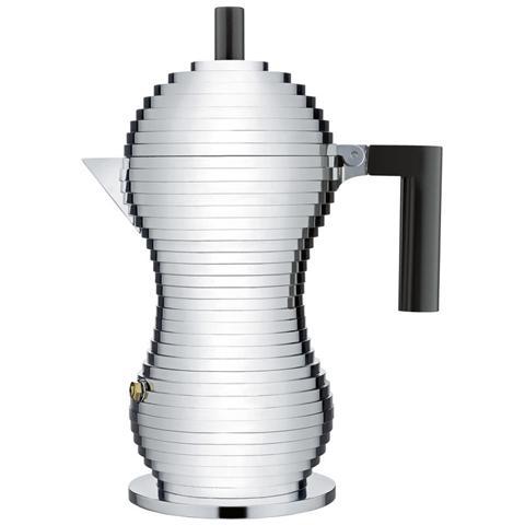 Caffettiera espresso pulcina nero 6 tazza alluminio