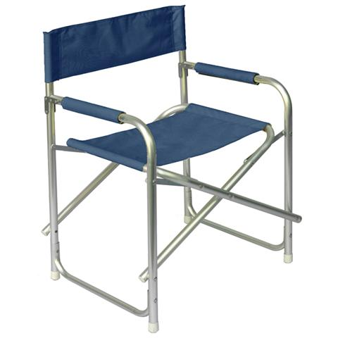 Sedia Regista in Alluminio Blu