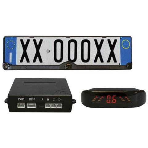 Rp102 Sensori Parcheggio Con Portatarga E Display Led Con Allarme Sonoro