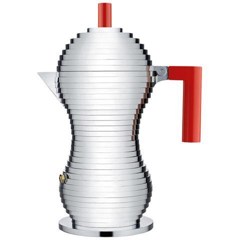 Caffettiera espresso pulcina rosso 6 tazza alluminio