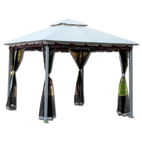Gazedo per Arredo Giardino Modello Smeralda Struttura Acciaio 300x300x270 cm