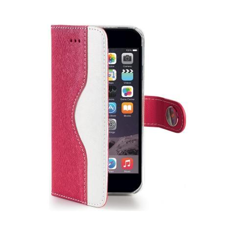 CELLY Wallet Custodia per iPhone 6 Plus - Colore Rosa