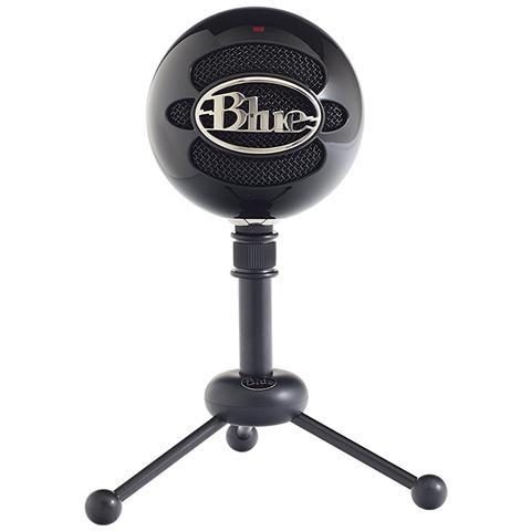 BLUE MICROPHONES Snowball Black Ice - Microfono Usb Plug & Play Win / Mac