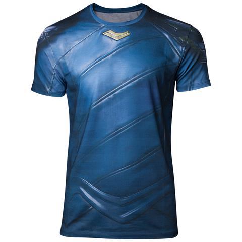 BIOWORLD Thor Ragnarok - Loki Armor Sublimation Blue (T-Shirt Unisex Tg. 2XL)