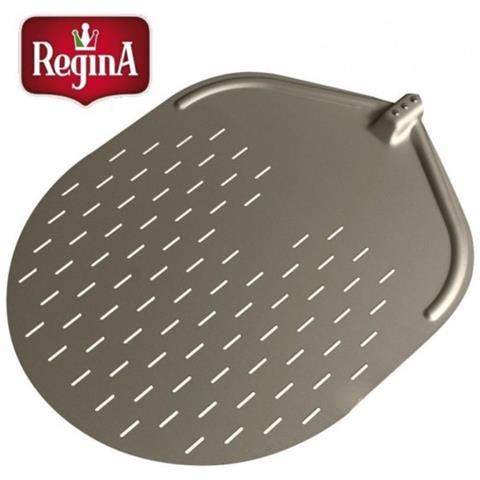 Pala Pizza Pizzeria Cm 50x62 Ovale Forata Alluminio Ossidato Regina Rs8476