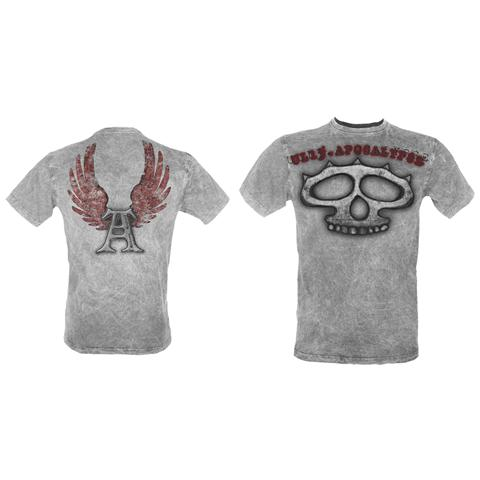 BIOWORLD Knuckles' - Ul13 Grey Vintage (T-Shirt Unisex Tg. S)