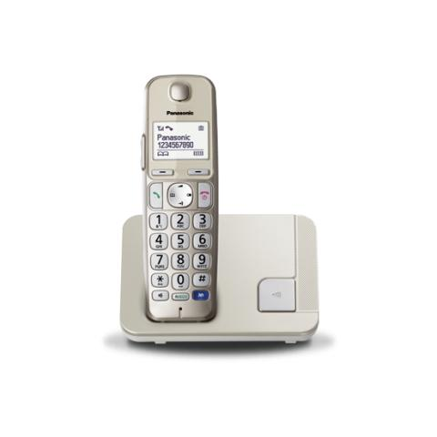 """Panasonic KX-TGE210 Telefono Cordless Digitale Display 1,8"""" - Champagne"""