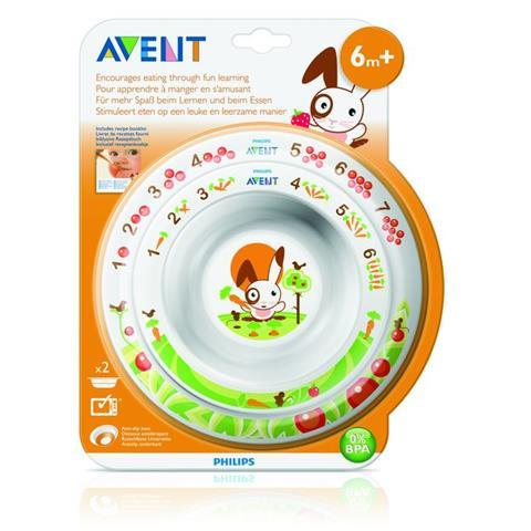 AVENT Toddler 2 bowl set 6m+ SCF708/00 White