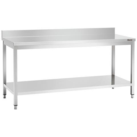 307106 Tavolo da lavoro senza alzatina in inox 1000x600x850-900 mm