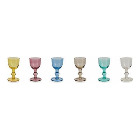 Avenue Set Bicchierini, Multicolore, 6 Unità