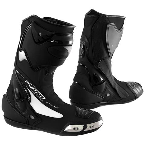 Stivale Scarpa Calzatura Pelle Moto Race Racing Sport Pista Tecnico Nero 43