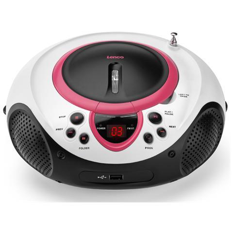 Lenco SCD-38 USB, Portatile, Analogico, FM, LED, 1,225 kg, MP3, WMA