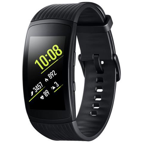 SAMSUNG Smartwatch Gear Fit 2 Pro Impermeabile 5ATM con GPS Integrato e Monitoraggio Battito Cardiaco Taglia L Colore Nero - Italia