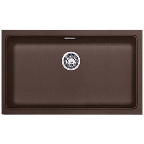 Lavello Kubus Sottotop Da Incasso KBG11070 Colore Dark Brown 1 Vasca