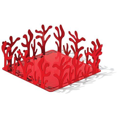 ALESSI Mediterraneo Portatovaglioli in Acciaio Inox 18/10 Colore Rosso