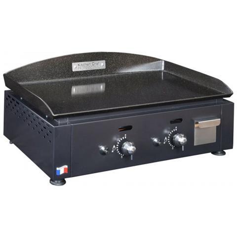 KCP60G Griglia di contatto Da tavolo Gas naturale 5500W Nero barbecue e bistecchiera