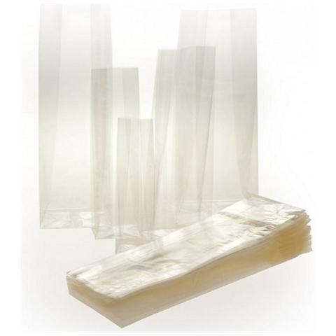 Decora® Bustine Trasparenti Per Biscotti Con Fondo Quadro 100 Pz - Cm 11x34+6