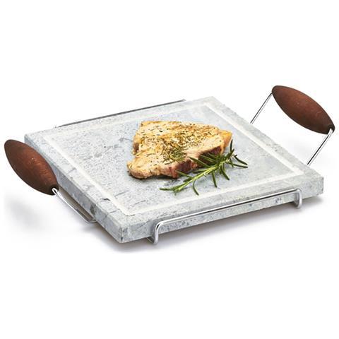 Pietra Ollare Quadrata Con Telaio In Metallo Bisetti