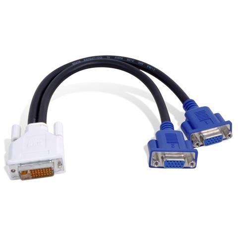MATROX DVI-I - HD15 DVI-I 2 x VGA (D-Sub) Nero