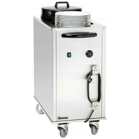 103065 Dispenser Riscaldapiatti su ruote 43x80x102,5