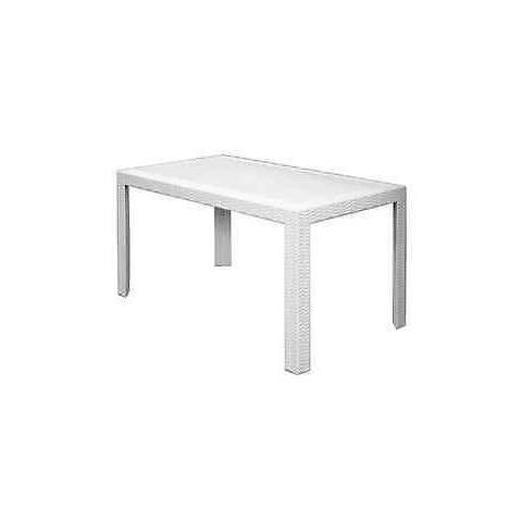 Tavolo in Polipropilene ed Ecorattan Bianco - Modello Prince