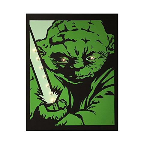 DIVERS Quadro Luminoso Star Wars - Yoda Small