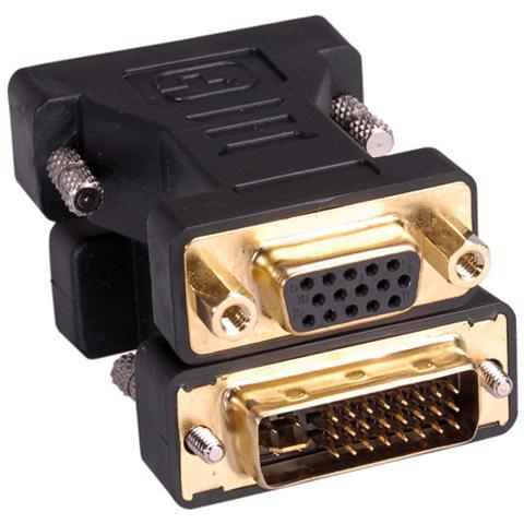 Roline DVI-VGA Adapter, DVI M - HD15 F Nero cavo di interfaccia e adattatore