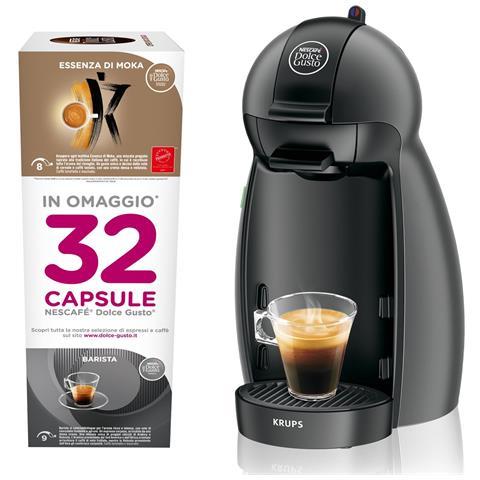 Piccolo Macchina da Caffè Nescafè Dolce Gusto Capacità 0.6 Litri + 32 Capsule Omaggio