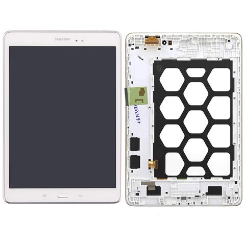 Image of Lcd Touch Display Schermo Originale Bianco Per Samsung Galaxy Tab A 9.7 Sm-t555